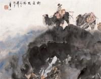 新疆风情    立轴 设色纸本 - 李山 - 中国书画 - 2010秋季艺术品拍卖会 -收藏网