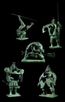 曾成鋼(b.1960)梁山好漢系列(魯智深、李逵、史進、林沖、武松)(一組五件) -  - 首届当代中国雕塑专场 - 2008年春季拍卖会 -中国收藏网
