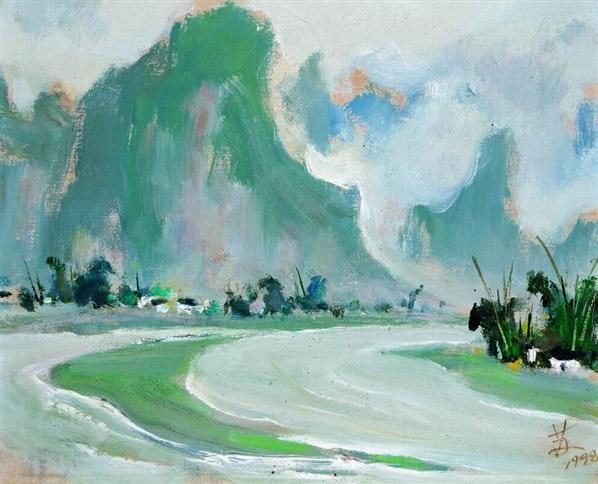 苏天赐   早春 - 132410 - 名家西画 当代艺术专场 - 2008年秋季艺术品拍卖会 -收藏网