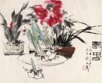 长春 镜片 设色纸本 - 118173 - 中国书画(二) - 2010年秋季艺术品拍卖会 -收藏网