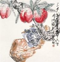 仙桃 镜片 设色纸本 - 江文湛 - 中国书画 - 2010秋季艺术品拍卖会 -收藏网