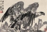老鹰 镜框 水墨纸本 - 黄胄 - 中国近现代书画(二) - 2010秋季艺术品拍卖会 -收藏网