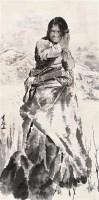 藏族女孩 立轴 设色纸本 - 王有政 - 中国书画 - 2010秋季艺术品拍卖会 -收藏网