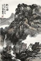 山水 纸本 立轴 - 胡振郎 - 中国书画(一)精品专场 - 天目迎春 -收藏网