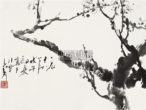 梅花 镜片 设色纸本 - 118173 - 中国书画 - 2010秋季艺术品拍卖会 -收藏网