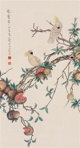 工笔花鸟 立轴 纸本 - 116800 - 中国书画(下) - 2010瑞秋艺术品拍卖会 -收藏网