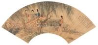 柳桃春风图 扇片 设色笺本 - 149185 - 中国近现代书画 - 2006艺术品拍卖会 -收藏网