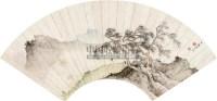 携童远眺 扇面 设色纸本 - 陈少梅 - 中国扇画专场 - 2010秋季艺术品拍卖会 -收藏网