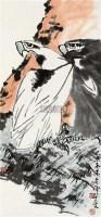 双鹰 立轴 设色纸本 - 139807 - 中国书画一 - 2010秋季艺术品拍卖会 -收藏网