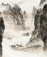 山水 立轴 设色纸本 - 陶一清 - 中国书画专场 - 2010年秋季艺术品拍卖会 -中国收藏网