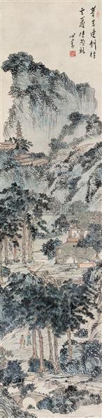 茂林云岩 立轴 设色纸本 - 1518 - 中国近现代书画(一) - 2010秋季艺术品拍卖会 -收藏网