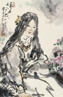 高原之花 镜片 设色纸本 - 吴山明 - 中国书画 - 2010年秋季拍卖会 -中国收藏网