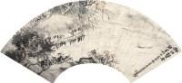 山水 设色纸本 扇片 - 胡公寿 - 2011迎春书画大型拍卖会 - 2011迎春书画大型拍卖会 -收藏网