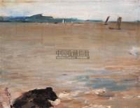 俞云阶/太湖景色布面油画