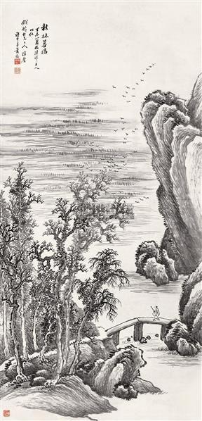 山水 立轴 水墨纸本 - 147746 - 书画专场 - 2006年第2期精品拍卖会 -中国收藏网