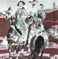 张道兴 远牧 镜心 - 张道兴 - 中国书画、油画 - 2006艺术精品拍卖会 -收藏网