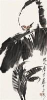 芭蕉小鸟    立轴 设色纸本 - 唐云 - 中国书画 - 2010秋季艺术品拍卖会 -中国收藏网