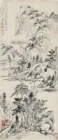 山水 纸本 立轴 - 查士标 - 中国书画(一)精品专场 - 天目迎春 -收藏网