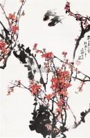 梅花 立轴 设色纸本 - 周之林 - 中国书画专场 - 2010年秋季艺术品拍卖会 -收藏网