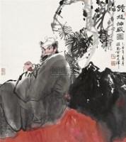 钟馗神威图 镜片 设色纸本 - 杜滋龄 - 中国书画(二) - 2010年秋季艺术品拍卖会 -收藏网