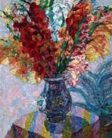 剑兰 布面油画 - 53431 - 中国油画  - 2010年秋季艺术品拍卖会 -收藏网