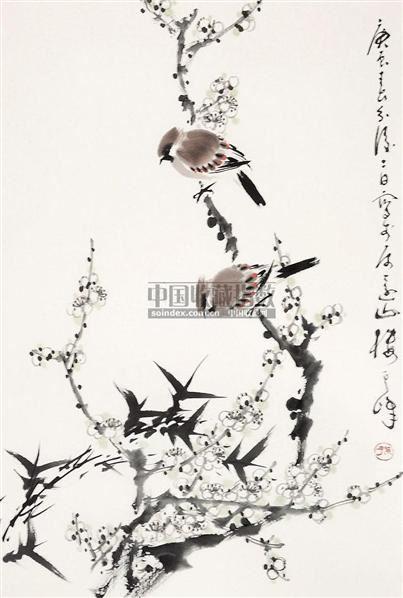 花鸟 立轴 纸本 - 1722 - 中国书画 - 2010年秋季书画专场拍卖会 -收藏网