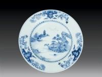 清 青花山水人物盘 -  - 瓷玉珍玩 - 2006艺术精品拍卖会 -收藏网