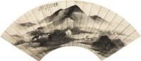 山水 设色纸本 扇片连框 - 汪琨 - 2011迎春书画大型拍卖会 - 2011迎春书画大型拍卖会 -收藏网