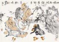 得怀忘忧 镜心 纸本设色 - 梁占岩 - 中国当代书画 - 2010秋季艺术品拍卖会 -收藏网