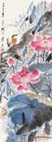 荷花 镜片 设色纸本 - 唐云 - 中国书画 - 2010秋季艺术品拍卖会 -中国收藏网
