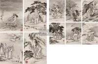 十八应真图册页 册页 (十开) 设色纸本 - 140951 - 中国书画一 - 2010秋季艺术品拍卖会 -收藏网