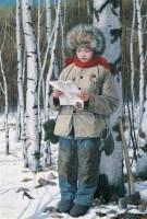 青春纪事之三-家信 木板坦培拉 - 刘孔喜 - 中国油画  - 2010年秋季艺术品拍卖会 -收藏网