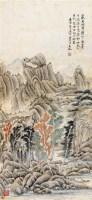 山水 立轴 设色纸本 - 吴徵 - 国画 陶瓷 玉器 - 2010秋季艺术品拍卖会 -收藏网