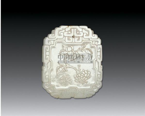 白玉百事如意纹珮 -  - 中国古代工艺美术 - 2006年度大型经典艺术品拍卖会 -收藏网