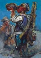 人物 纸本油画 - 罗中立 - 中国油画  - 2010年秋季艺术品拍卖会 -收藏网