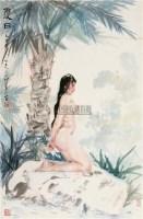 夏日 镜框 设色纸本 - 1356 - 国画 陶瓷 玉器 - 2010秋季艺术品拍卖会 -中国收藏网
