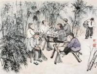 农闲乐 镜心 设色纸本 - 何海霞 - 中国书画一 - 2010秋季艺术品拍卖会 -收藏网