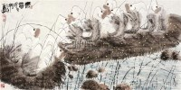 春意 镜心 设色纸本 - 145870 - 中国书画(二) - 2010年秋季艺术品拍卖会 -收藏网