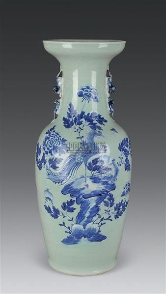 青花加白花鸟纹胆瓶 -  - 古董珍玩 - 2010秋季艺术品拍卖会 -收藏网