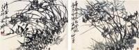 柳 村      兰花二件 - 柳村 - 中国书画  - 2010浦江中国书画节浙江中财书画拍卖会 -中国收藏网