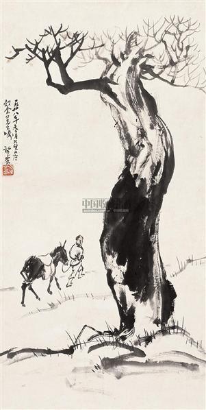 行旅图 立轴 设色纸本 - 21149 - 中国书画 - 2010秋季艺术品拍卖会 -收藏网
