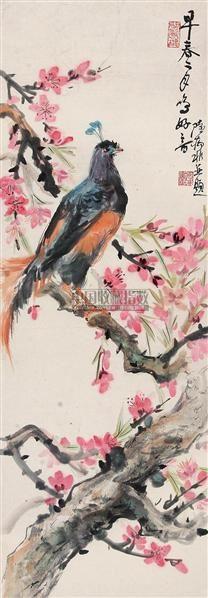 花鸟 立轴 纸本 - 131055 - 中国书画(下) - 2010瑞秋艺术品拍卖会 -收藏网