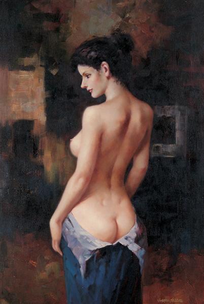 人物 油画 镜心 - 153322 - 名家书画·油画专场 - 2006夏季书画艺术品拍卖会 -收藏网
