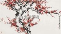 红梅 镜心 设色纸本 - 董寿平 - 中国书画(一) - 2010年秋季艺术品拍卖会 -收藏网