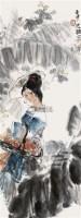 芭蕉美人 立轴 设色纸本 - 周思聪 - 中国书画(一) - 2010年秋季艺术品拍卖会 -收藏网