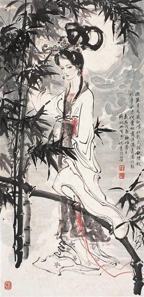 仕女图 立轴 设色纸本 - 123322 - 中国书画 - 第54期书画精品拍卖会 -收藏网
