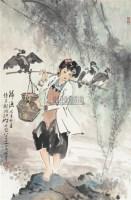 归渔 镜心 设色纸本 - 139859 - 中国书画(一) - 2006春季拍卖会 -收藏网
