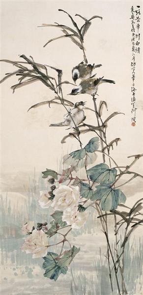 柳  滨(1887~1945)  芙蓉白头 -  - 中国书画海上画派作品 - 2005年首届大型拍卖会 -收藏网