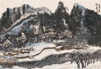 山村初雪 立轴 设色纸本 - 徐希 - 中国书画 - 第9期中国艺术品拍卖会 -收藏网