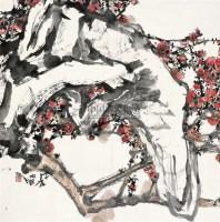 梅石图 镜片 设色纸本 - 江文湛 - 中国书画 - 2010秋季艺术品拍卖会 -收藏网